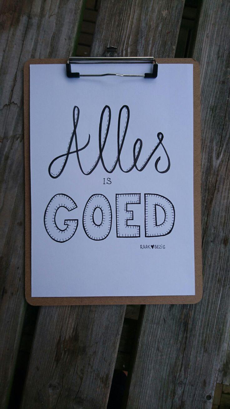 Getekend door Raak BEZIG #handlettering #handlettered #handmadefont #lettering #letters www.raakbezig.nl