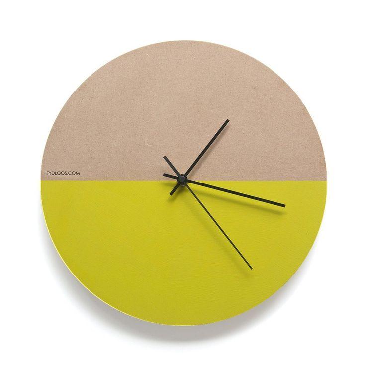 Yellow Hemisphere Wall Clock