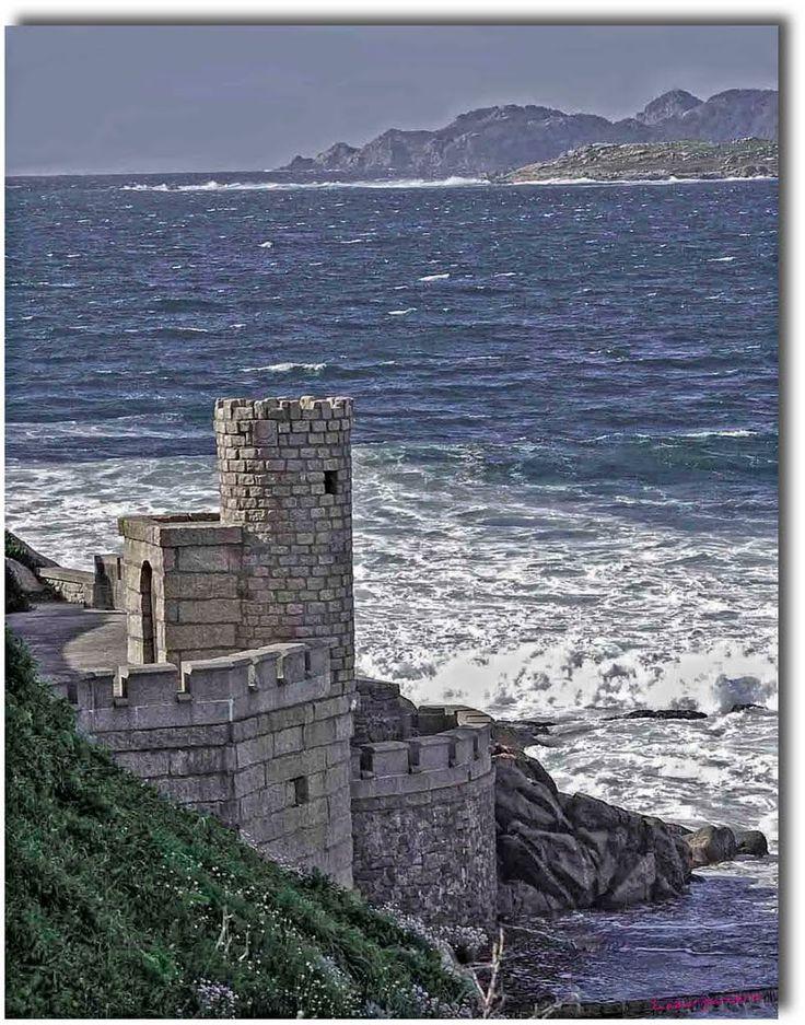 Mirador en Castillo de Baiona, Galicia, España