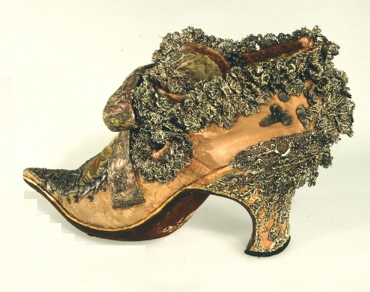 Late 17thC early 18thC shoes of Louis XIV - not surprising they are over-ornamented!