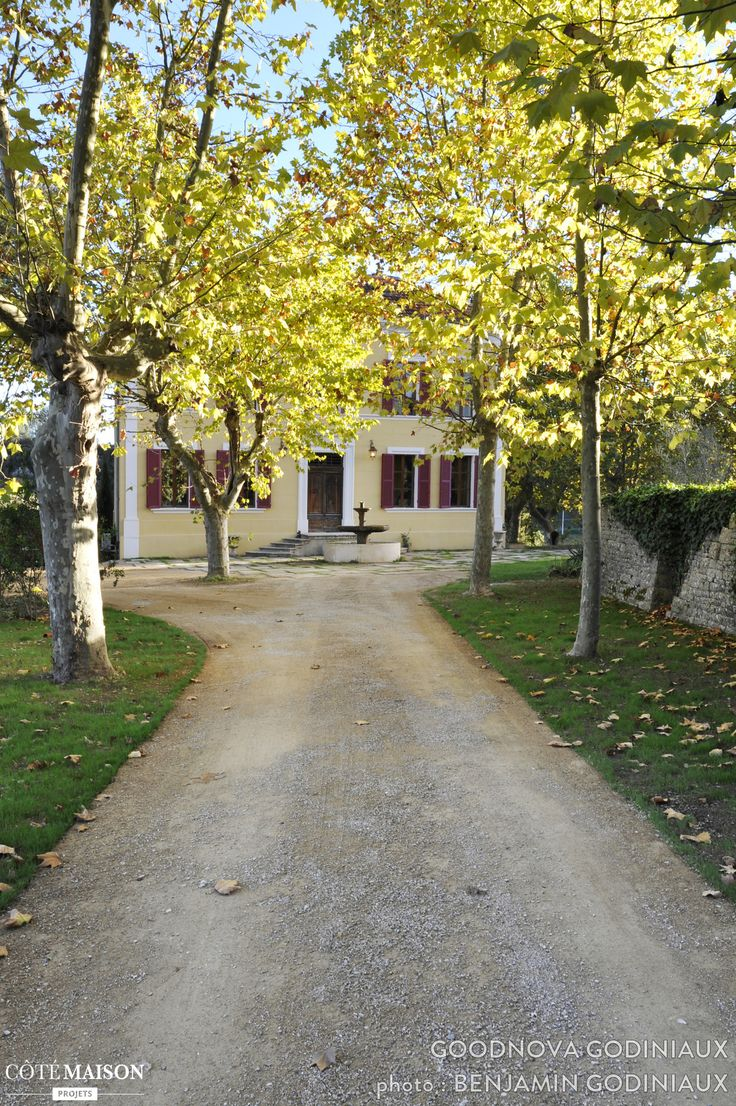 Une grande all e de jardin avec arbres aux couleurs automnales des jardins comme la campagne - Construire une allee de jardin ...