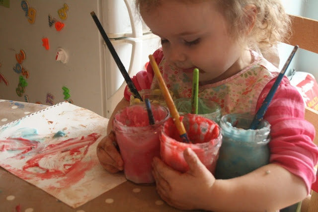 The Imagination Tree: Homemade Edible Finger Paint