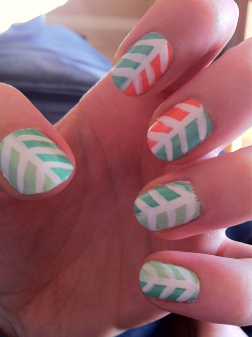 I prefer only 2 nails designed and the rest solid color this is such a pretty  nail art though.