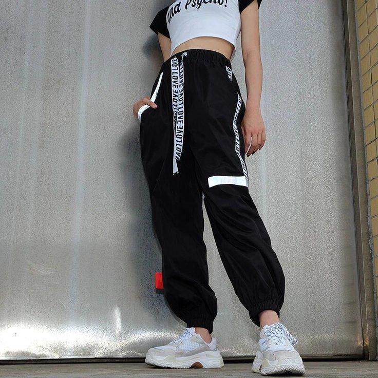 Women's Autumn High-Waist Striped Patchwork Fitness Pants | ZORKET – zorke…