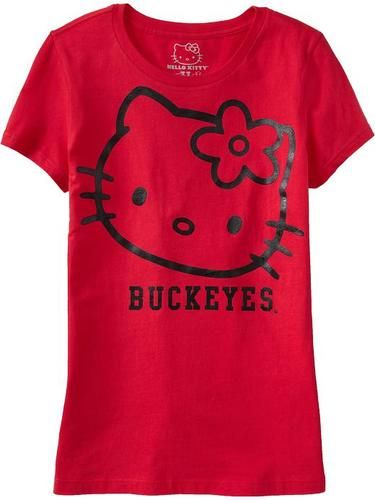 Large L Hello Kitty Ohio State Buckeyes Old Navy T Shirt College Football Tee. I own this shirt and I love it <3
