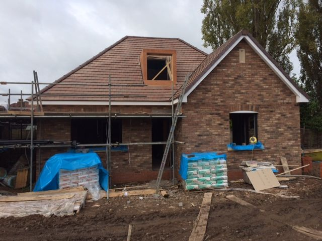 Here are some images of our 8no dormer bungalows in Wolverhampton. Roofing is underway on all 8 plots.   The showhome plot, is plastered and the windows have been fitted First fix to all trades will also be completed and the scaffold is due to be dropped. A garden wall is also currently being built #build #construction #showhome   www.belwell.co.uk