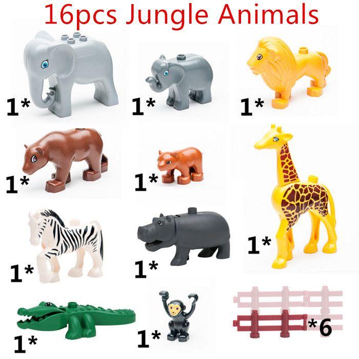$16.88 (Buy here: https://alitems.com/g/1e8d114494ebda23ff8b16525dc3e8/?i=5&ulp=https%3A%2F%2Fwww.aliexpress.com%2Fitem%2F16pcs-lot-Jungle-Animals-Set-DIY-Big-Building-Blocks-Crocodile-Hippo-Compatible-with-Lego-Duplo-Educational%2F32653159787.html ) 16pcs/lot! Jungle Animals Set DIY Big Building Blocks Crocodile Hippo Compatible with Lego Duplo Educational Toy KidsToys for just $16.88