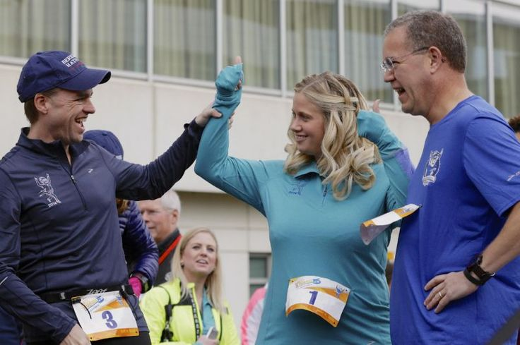 Working at Berkshire Hathaway is about more than access to Warren Buffett    Julia La Roche  Yahoo Finance  April 28, 2017    Berkshire Hathaway investment managers Todd Combs, left, Ted Weschler, right, and Tracy Britt Cool, Chairman of Berkshire companies Benjamin Moore, Johns Manville, Oriental Trading Company and Larson-Juhl, center, prepare to launch a 5K run sponsored by the Brooks Running Company, a Berkshire Hathaway subsidiary.
