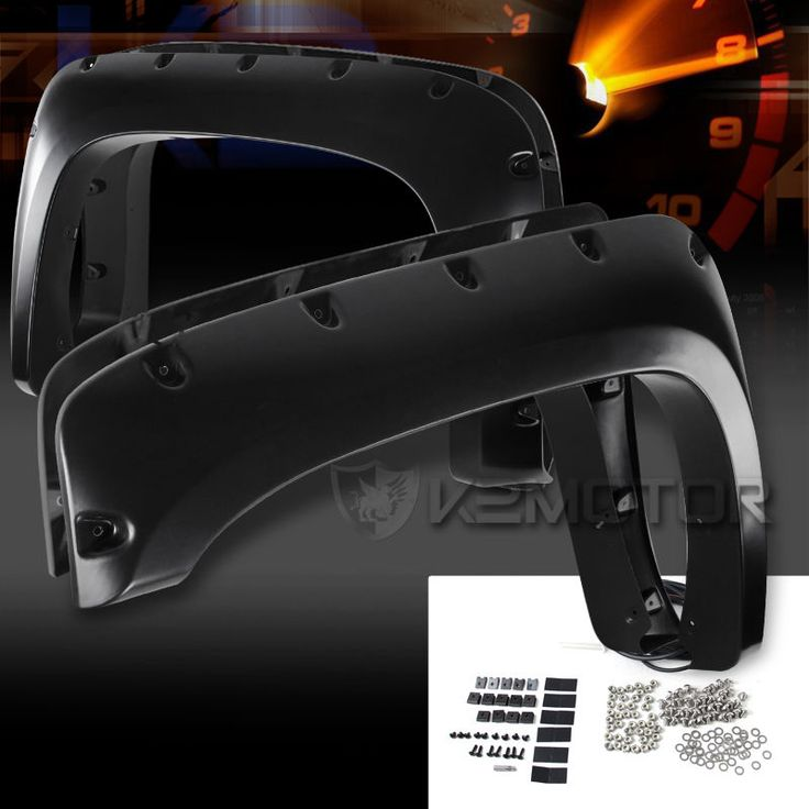 07-13 Chevy Silverado 1500 2500HD/3500HD Black Rivet Fender Flares Pocket Style…
