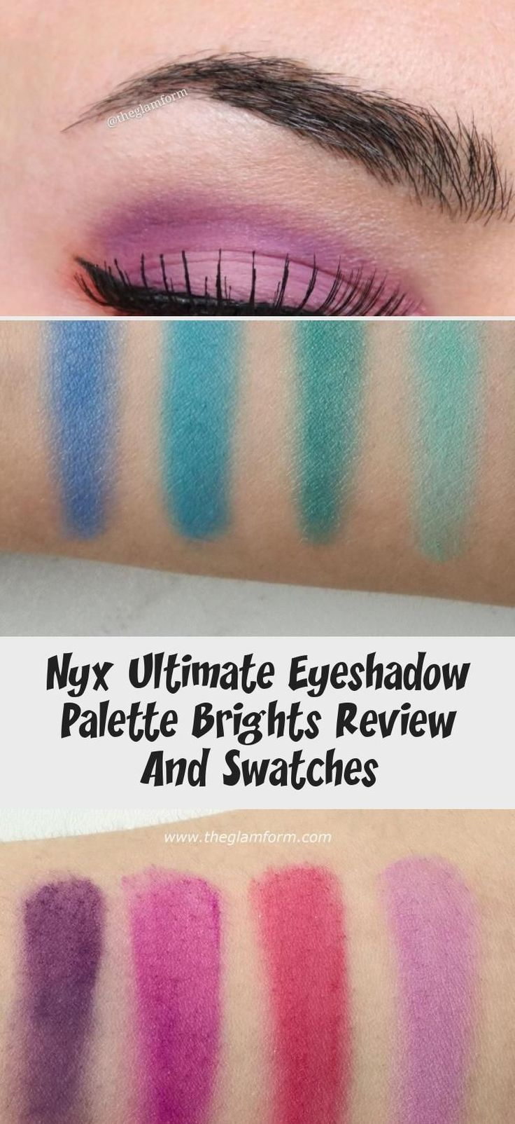 Nyx Ultimate Eyeshadow Palette Brights Review And Swatches