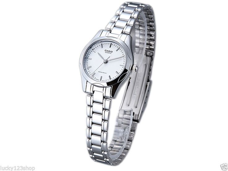 LTP 1275D 7A White Lady Casio Watch Stainless Steel Band Analog Brand New   eBay