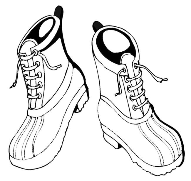 Winter Boots Are Strongly Coloring Page | Winter Coloring Page | Pint ...