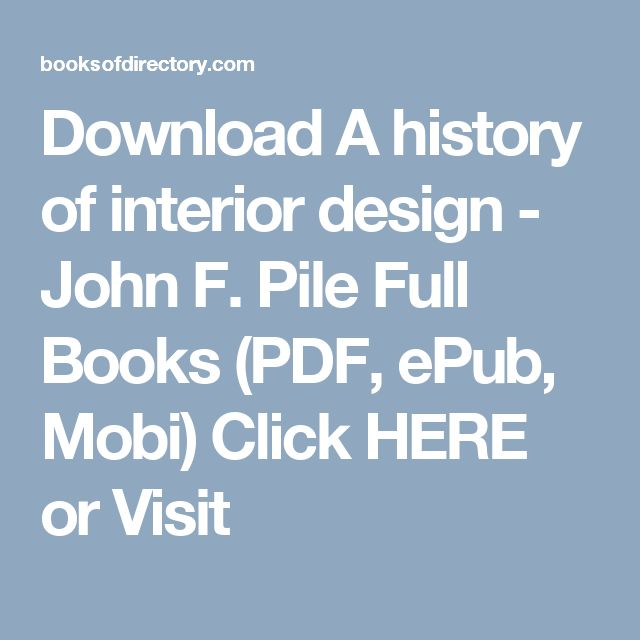 Download A History Of Interior Design