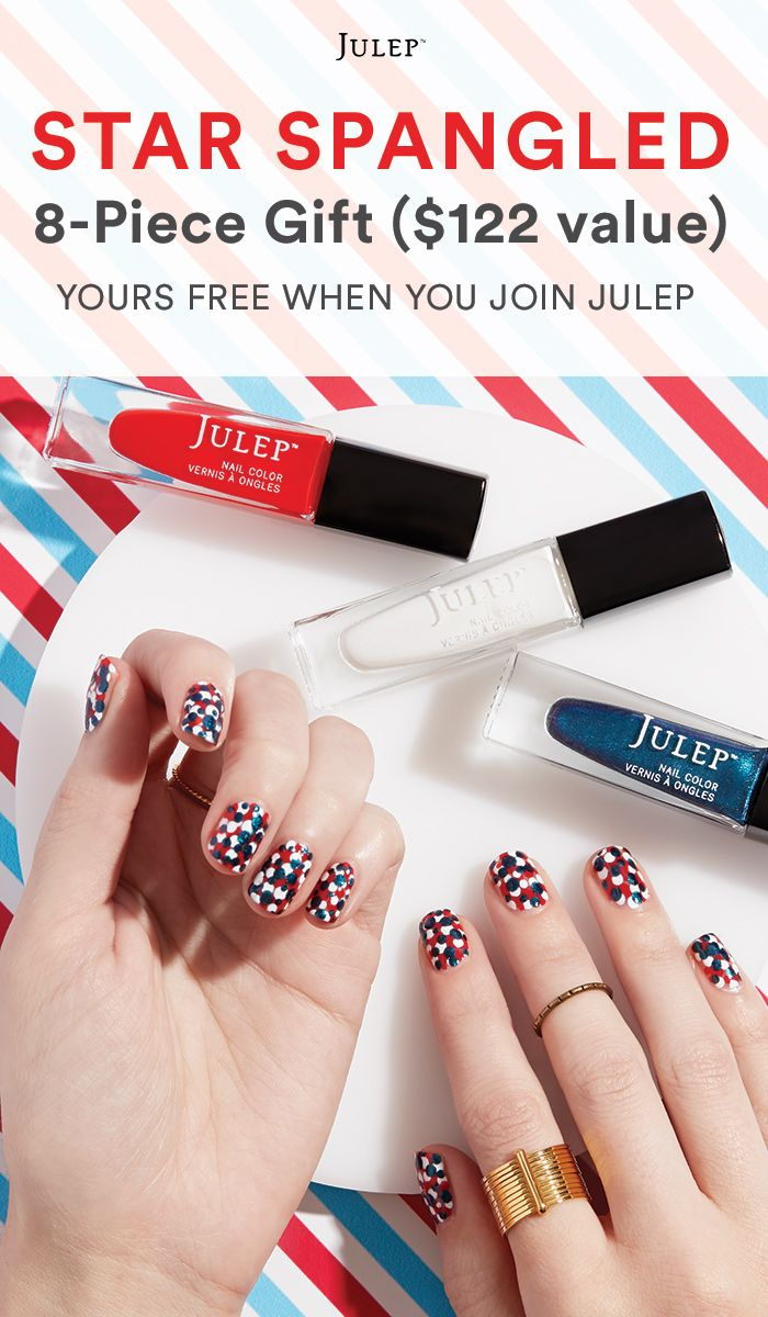 Get this full-size patriotic beauty gift ON US when you join Julep beauty box ($122 value!).  Offer ends 7/5/16.