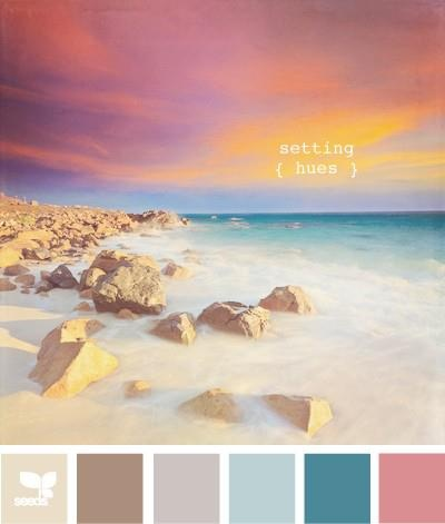 Plumeria Coastal Home  Our Colour Chart for today is.....Setting Hues