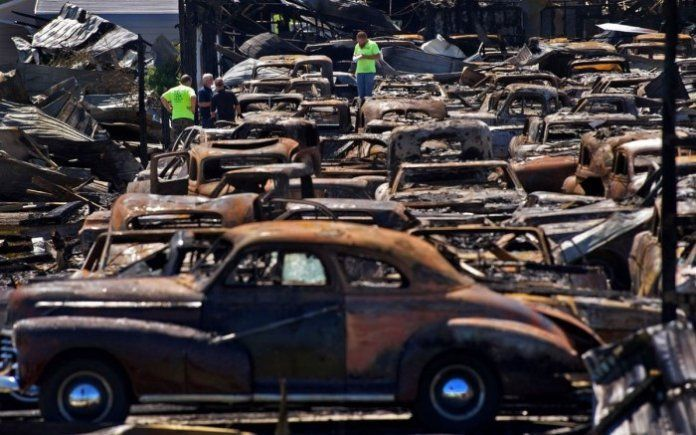 Classic Car Dealer Finds He Has Many Friends As Major Fire