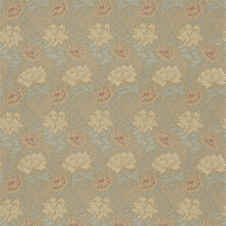 Morris & Co. Fabric - Pr7612/3 Chrysanthemum