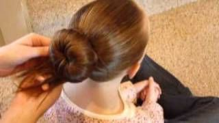 How To Make A Perfect Ballet Bun, via YouTube.