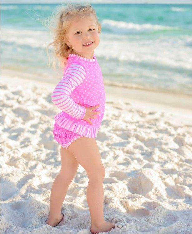 RuffleButts Baby//Toddler Girls Lace up Sleeve Sweater