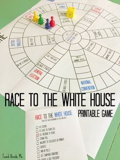 Race to the White House is a printable board game to teach kids about the presidential election.  via @karyntripp