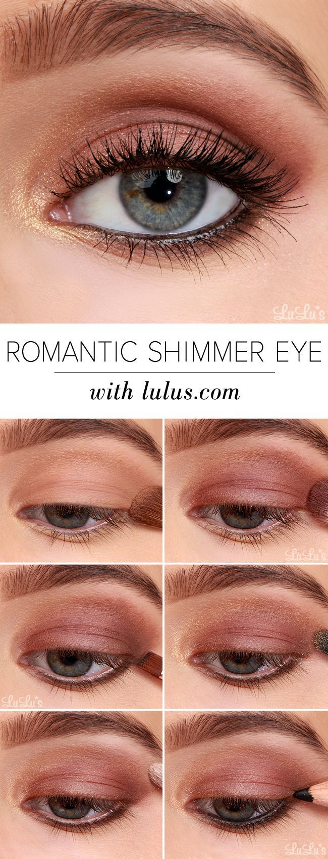 Romantic Shimmer Eyeshadow Tutorial #CutieEyeShadow