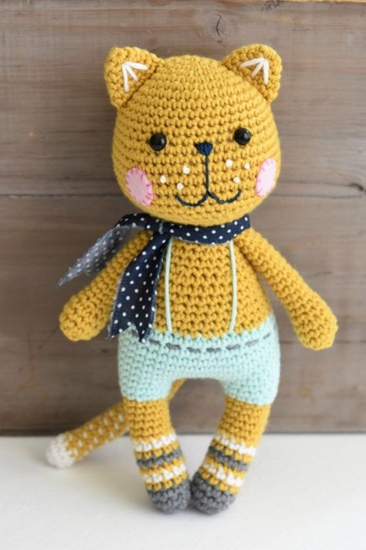 Kind and colorful cat with loads of dots and stripes