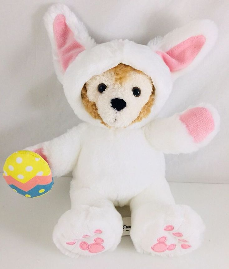 """Disney 9"""" Duffy Bear In Bunny Suit With Easter Egg  