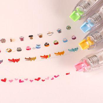 1pcs Hot sale Stationery cartoon multicolour laciness decoration belt diy laciness Scrapbook DIY stickers cartoon sticker