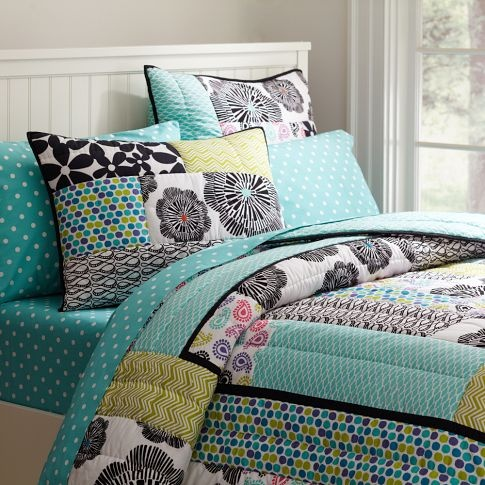 This Is An Awesome Graphic Patch Quilt And Sham From Pb
