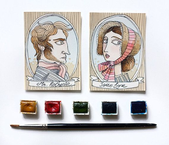 ON SALE-Jane Eyre  Charlotte Bronte  Jane Eyre by MrsPeggottyArts