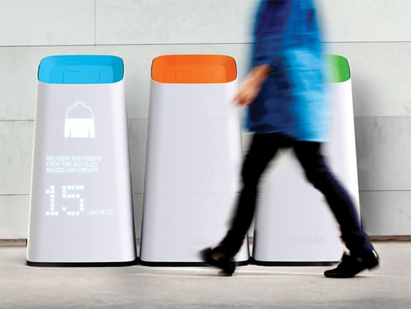 Informative trash/recycling bins. #trash #recycle #YankoDesign