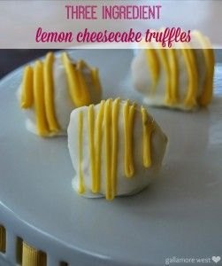 Make these delicious Three Ingredient Lemon Cheesecake Truffles! Laure from Gallamore West shows us how!