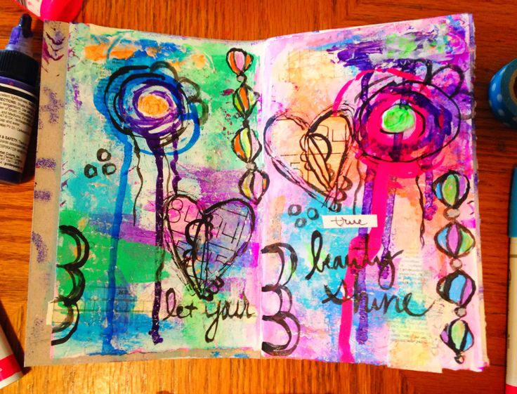 Adventures in art journaling: My Top 5 Art Journaling Supplies! | I like this art journal page! {art journaling styles} | Pinterest | Art journaling, Journalin…