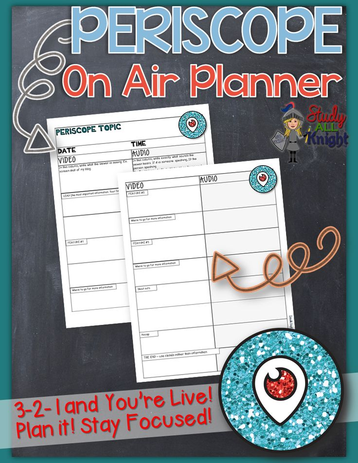 #Periscope On Air Planner (FREE) 3-2-1 and you're live!