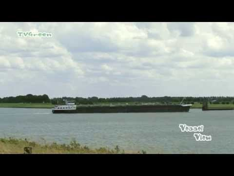 Barge Serano crossing the Amsterdam Rijnkanaal - YouTube