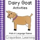 Dairy Goat Activity Pack includes:1.  Dairy Goat File Folder Game - Parts of a Goat2.  Dairy Goat File Folder Game - Gallons of Milk3.  Dairy G...