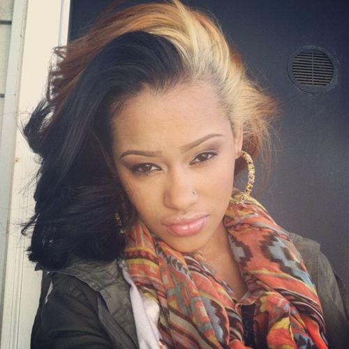 black blonde urban hairstyle