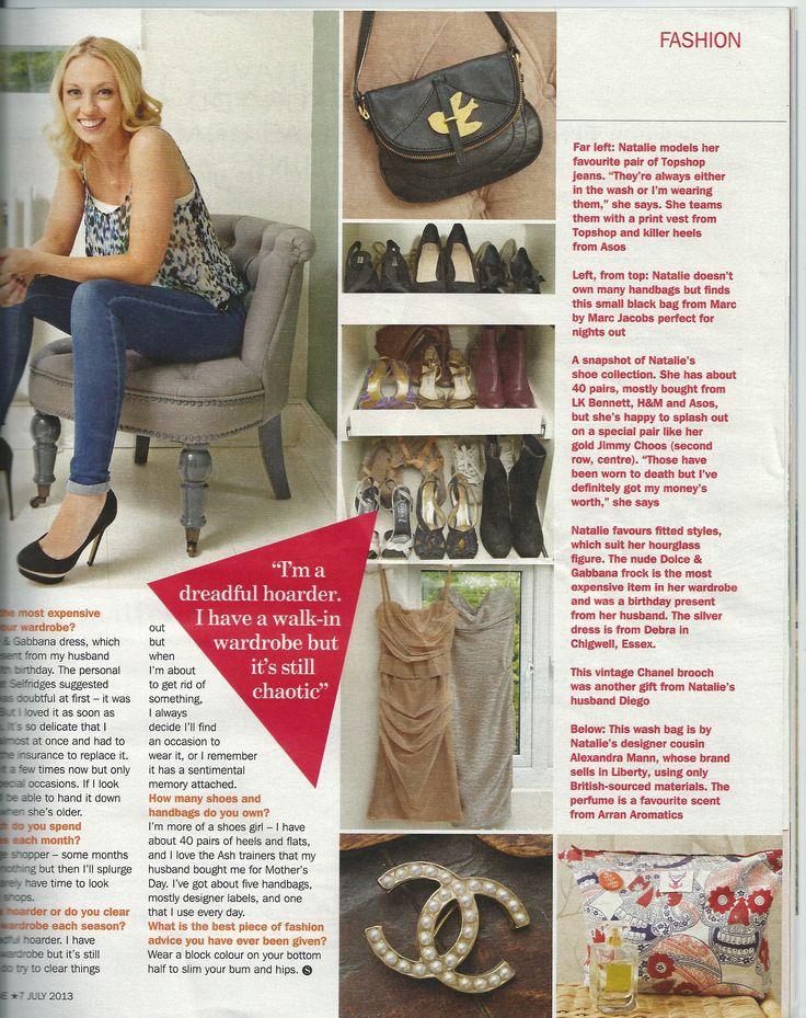Sunday Express supplement featuring a Alexandra Mann wash bag