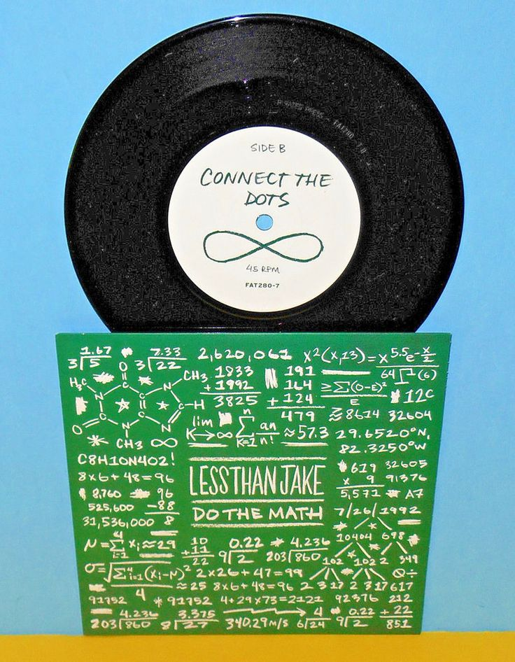 "LESS THAN JAKE do the math , connect 7"" Record ska punk Vinyl , fat wreck chords #SkapunkPunkNewWave"