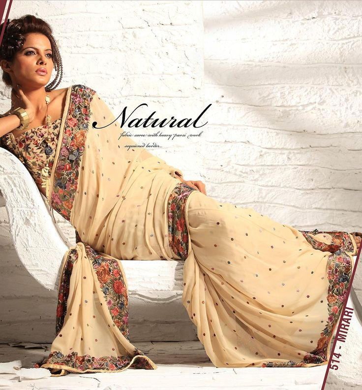 Parsi Gara embroidery Saree