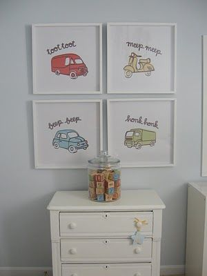 little boy room. 4 framed pictures together