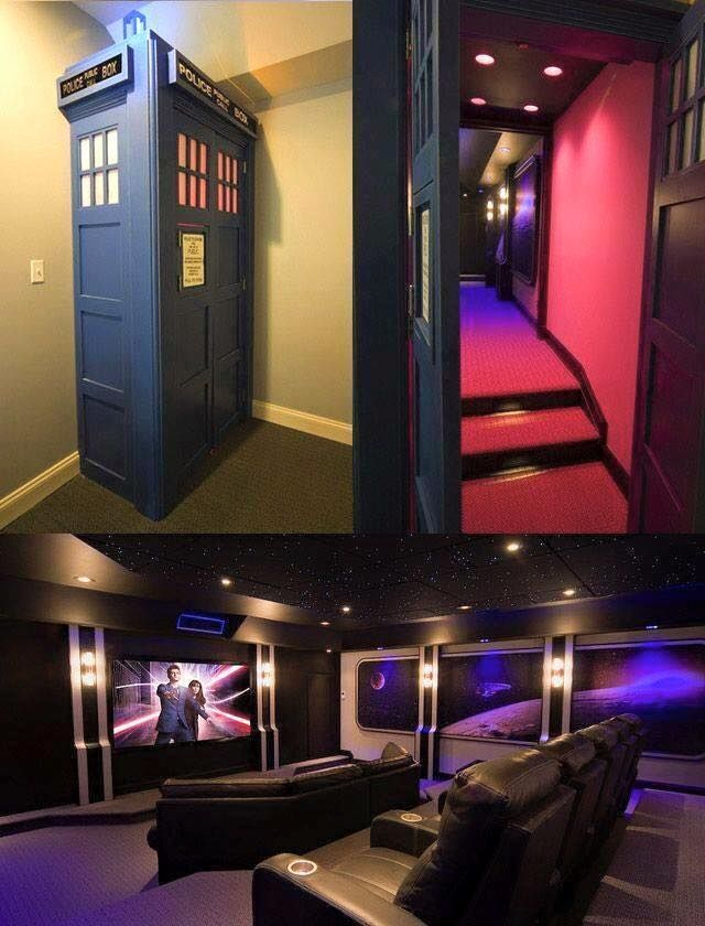 TARDIS Home Theater...bigger on the inside!