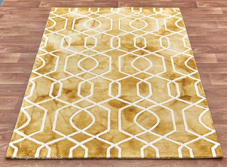 Fresco Yellow Rug A 100 Wool Hand Woven Modern Inspired By Traditional