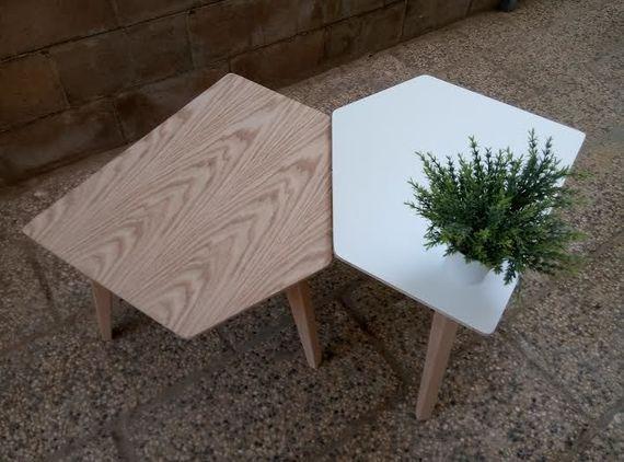 שולחן, שולחן עץ, שולחן סלון, שולחן מחומש, שולחן מעוצב, שולחן קפה | My Ideal Home - הבית האידיאלי | מרמלדה מרקט