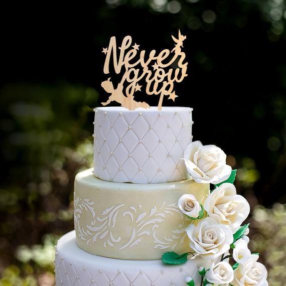 Peter pan tinkerbell happy birthday cake topper,peter pan theme never grow up cake topper,peter pan neverland birthday cake topper,0192