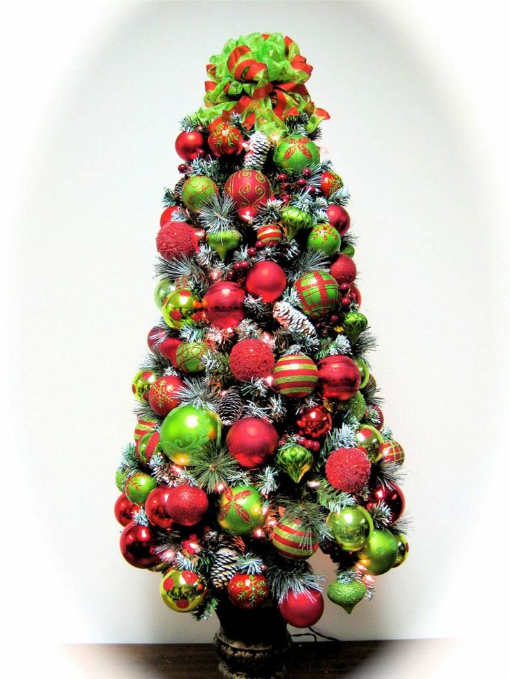 Red And Lime Green Christmas Decorations