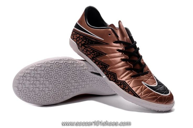 Nike Men's Hypervenom Phelon II IC Indoor Football Soccer Shoes Gold Bronze $73.00