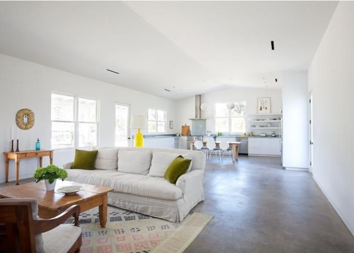 Sonoma Farmhouse By Houseplans Concrete Floor And Concrete
