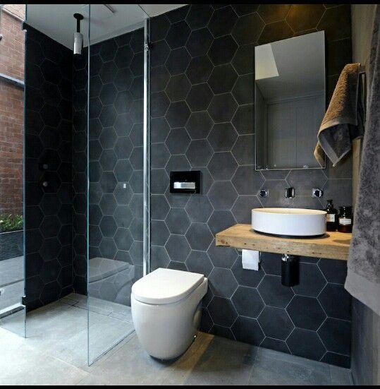 masculine grey hexagon tile