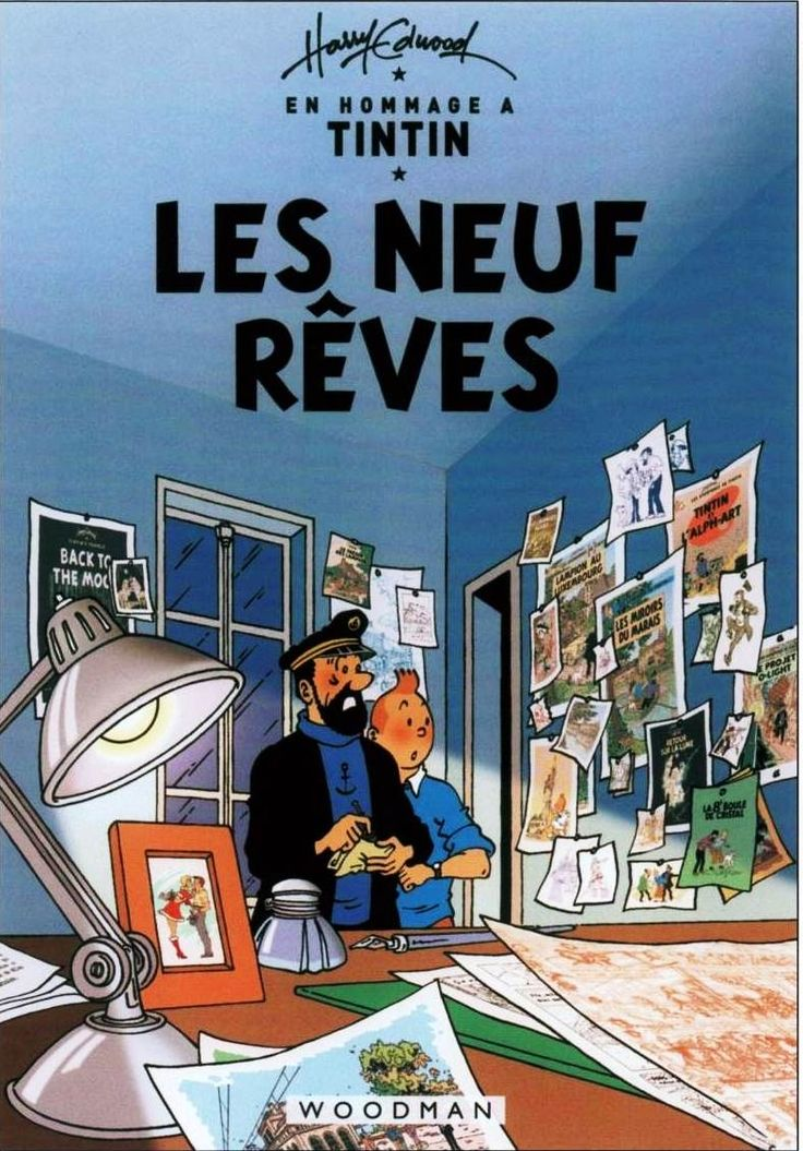 Harry Edwoods creation of Tintin --- Only Cover Page, but the drawings are very fantastic.